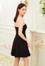 robe bustier blanc et noire courte