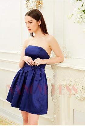 robe bustier bleu marine courte D014