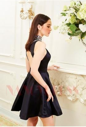 robe cocktail noire courte