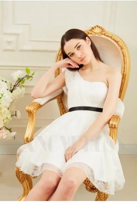 robe de cocktail blanc court