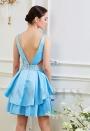 robe dos nu bleu turquoise courte