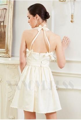 robe sexy champagne pâle courte