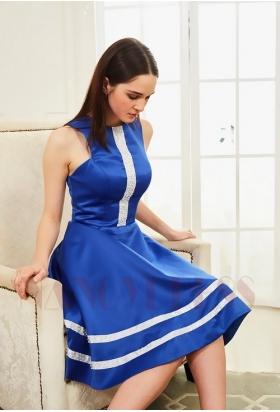 robes de cocktail bleu roi courte