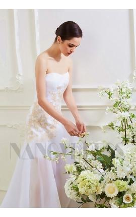 robe de soirée blanche longue