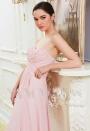 robe de soirée rose long H009