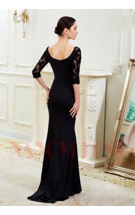 robe soirée noire long