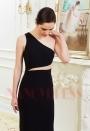 robe soirée noire long H011