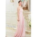 robe soirée rose long