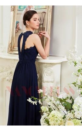 robes soirée bleu marine long