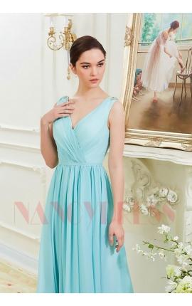 robes soirée bleu turquoise long