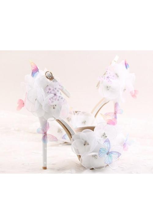 chaussure blanc fete barbadine