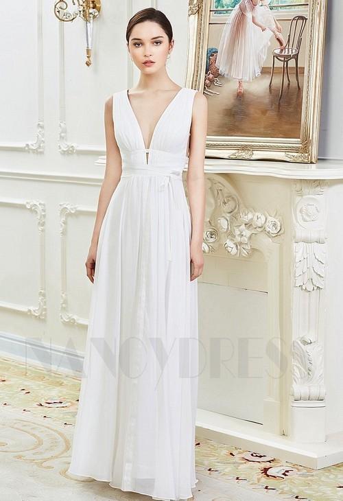 robes de soirée blanc long