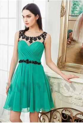 robes de cocktail vert courte
