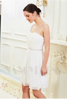 robes de cocktail blanc courte