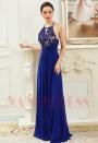 robe soirée bleu roi long