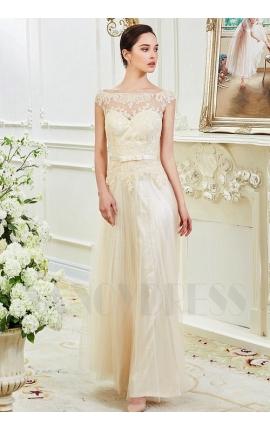 robes de soirée champagne pâle long