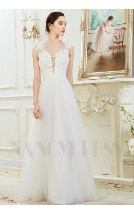 robes soirée blanc long