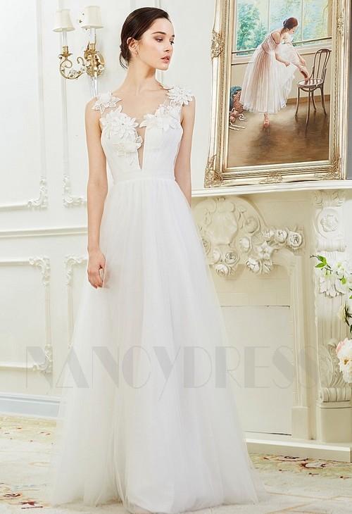 Robe de soiree blanc or