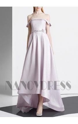 robe de soirée pas cher gris pale long