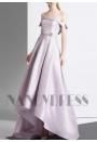 robe de soirée pas cher gris pale long H021