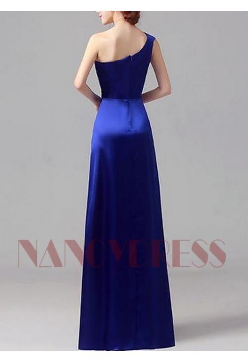 robes de soirée bleu roi long