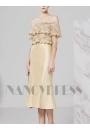 robe bustier Champagne courte