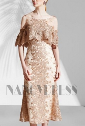 robe de cocktail Champagne courte