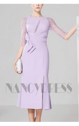 robes de cocktail violet clair courte