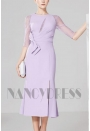 robes de cocktail violet clair courte D031
