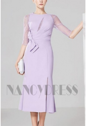 robes de cocktail violet clair courte D031
