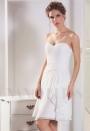 robe bustier blanc courte
