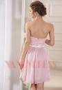 robe bustier rose courte D055