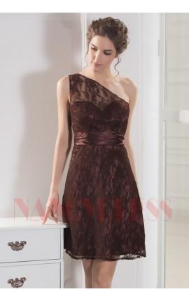 robe sexy marron courte