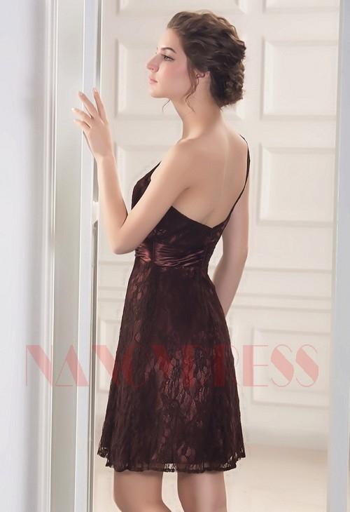 robe sexy marron courte D051