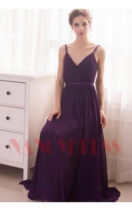 robe de soirée pourpre long