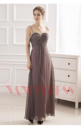 robe de soirée gris long
