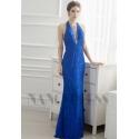 robe de soirée longue bleu roi long