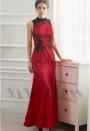 robe de soirée rouge feu long