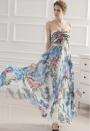 robe soirée jupe imprimée bustier long