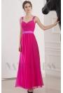 robe soirée fuchsia long
