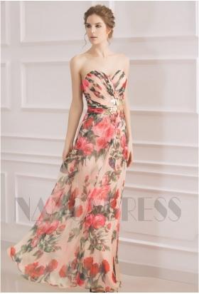 robe soirée jupe imprimée long