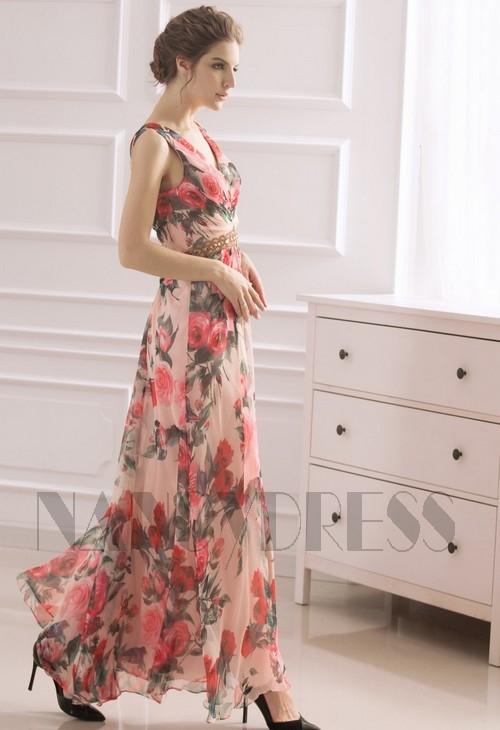 robes de soirée Jupe imprimée long