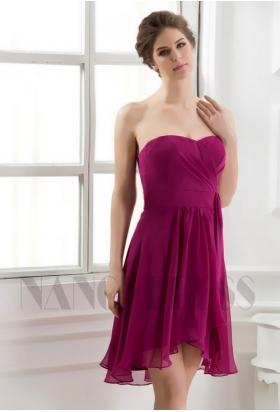 robe bustier pourpre courte D063