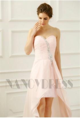 robe bustier rose courte
