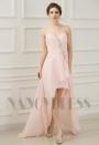 robe bustier rose courte D058