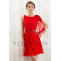 robe cocktail rouge feu courte