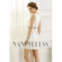 robe de cocktail blanc courte