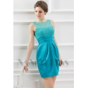 robe de soirée courte vert turquoise