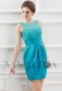 robe de soirée courte vert turquoise D067