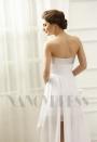 robe sexy blanc bustier courte D071